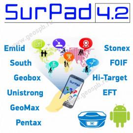 ПО SurPad 4.2 для GNSS приемников