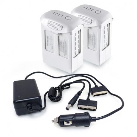 Комплект дополнительно питания GeoPower DJI Phantom 4 (2 аккумулятора и автомобильное з/у)